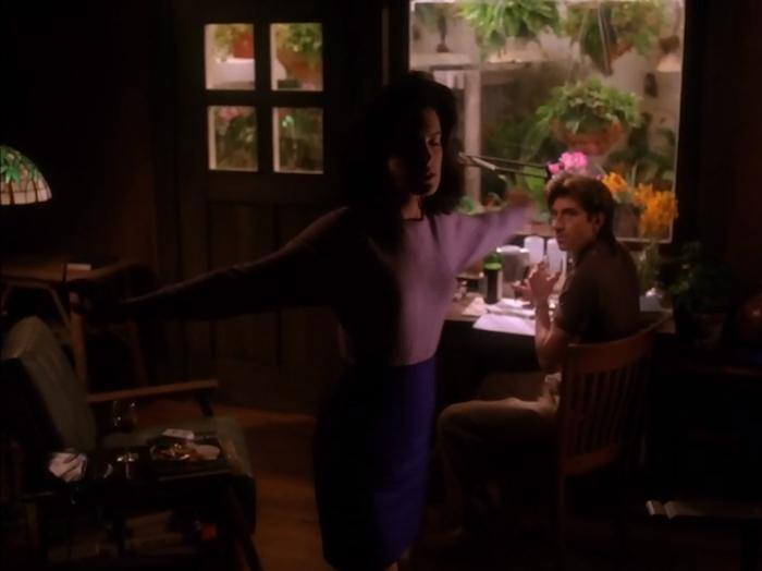 Donna spinning Harold