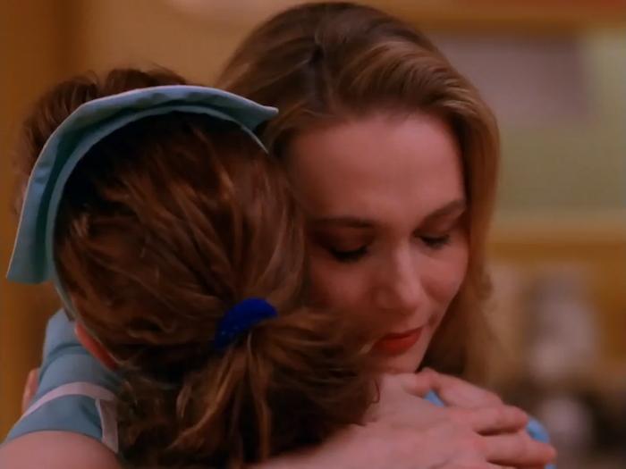 Norma hugs Shelley